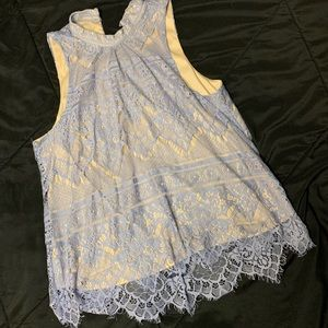 LC High neck lace top